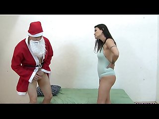 Kiana gets fucked by pervy santa