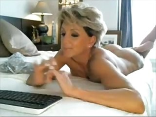 Classy blonde short hair milf from milfaholico period com