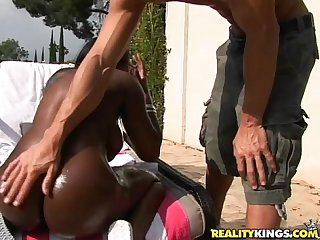 Jada fire gets her sweet ebony pussy pummeled like it should