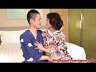 Asian newhalf fucks male after getting fucked