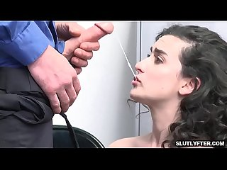 Sexy thief Lyra Lockhart gets her pussy penetrated from behind for stealing!