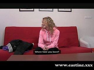 Casting - Fitness instructor gets a cock workout