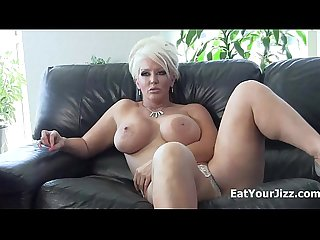 Dominatrix alura jenson makes you eat your cum