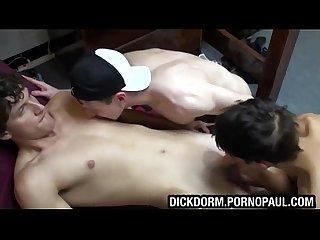 Straight fratboy blowjob