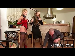 Nasty dominatrix-bitch dominates fellow