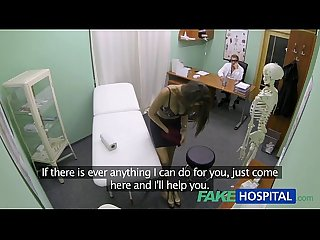 Fakehospital hot girl with big tits gets doctors treatment before squirting
