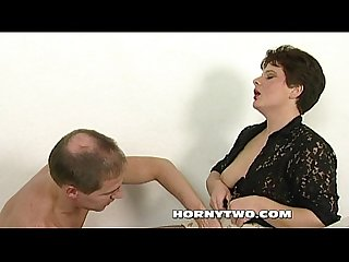 Shaved brunette Mature milf bitch with wet naked pussy taken hard by horny guy