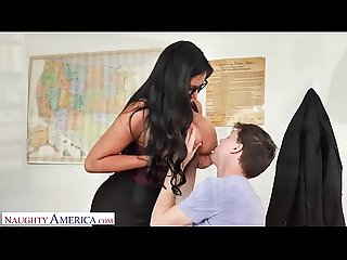 Naughty America - Professor Sybil Stallone sucks and fucks student