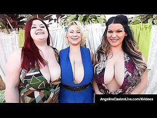 Phat BBWs Angelina Castro & Friends Suck Big Black Cock!