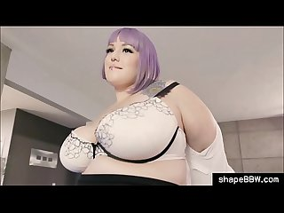 Fat BBW secretary fucks with Boss in the office