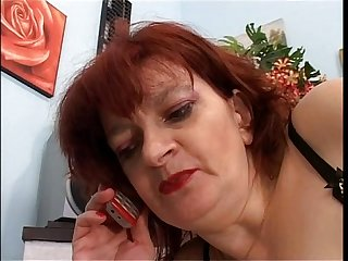 Mature woman seduces and fucks younger