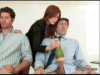 Girls love to test stiff cock
