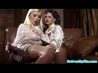 Classy eurobabes rough assfucking threesome