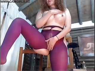 Big tits milf with her pets masturbating on the webcam
