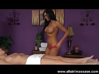 Aryana augustine eats out her massage client