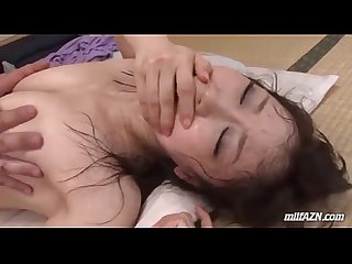 milf getting her hairy pussy fucked hard cum to mouth while her son sleeping nex