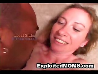 Mom w Big Tits trys Black Cock in Mature Interracial Video
