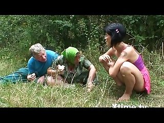 A pic nic of A perverse family of farmers turns into an orgy excl