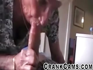 Old maid sucks young house owners cock crankcams com