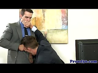 Office jock assfucking before blowing load