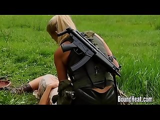 Slave huntress ii blonde lesbian on the hunt