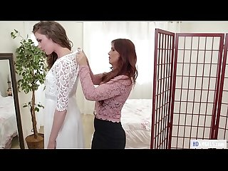 Mommy S girl stepmom helps with the wedding dress syren de mer and elena koshka