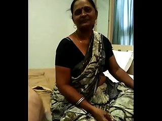 Hot indian milf handjoab and blowjob