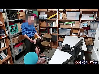 Cutie shoplifter chick caught and punish fucked