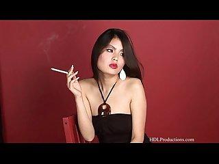 Lily smoking fetish at dragginladies