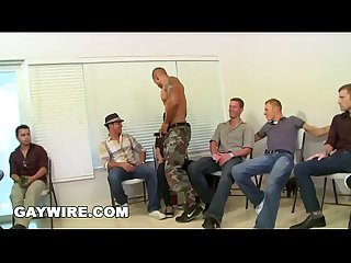 Gaywire crazy sausage party with multiple male strippers slinging dick