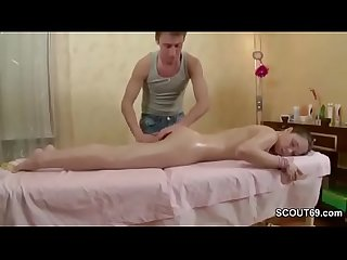Brother seduce his sister to fuck with massage