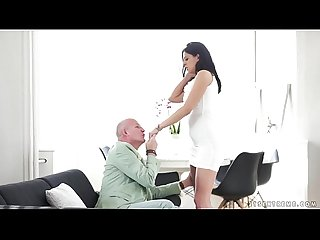 Brunette Teen Fucked by Grandpa