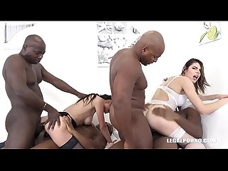 Nicole Love & Jessica Bell hardcore Fisting & Big Black Cock Anal Destruction