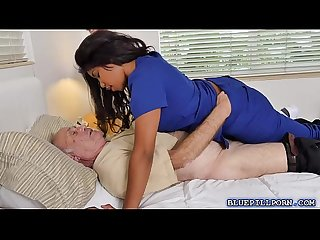 Hot nurse jenna foxx fucks two horny old guys