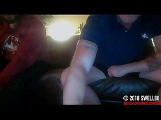 Straight latino tradesman caught on hidden cam mutual masturbation and cum