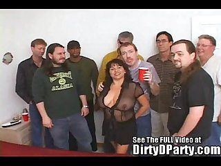 Susie S gang bang bukkake party with dirty d