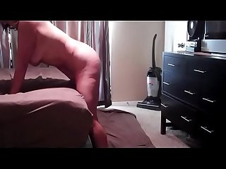 Horny hubby fucking her mouth then her pussy and then her ass