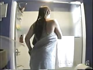 Watch my sister nude in bath room hidden cam