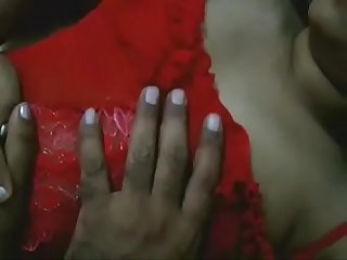 Indian Aunty In Red Nighty Naked Ready For Hot Sex