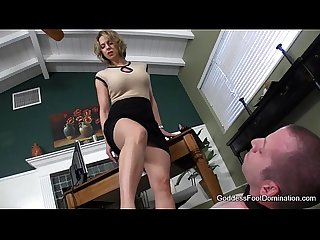 Office footbitch milking