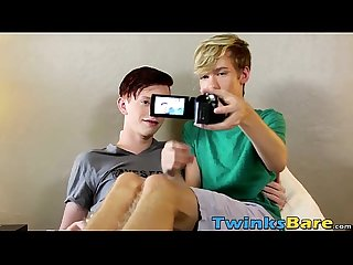 Cute twinks elijah and tyler make a home bareback movie