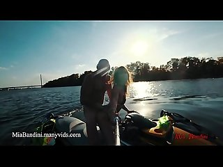 Public ass to throat ride on the jet ski