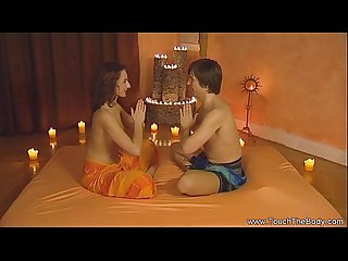 Handjob massage time from indian milf