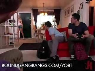 Milf gangbang by son frnds