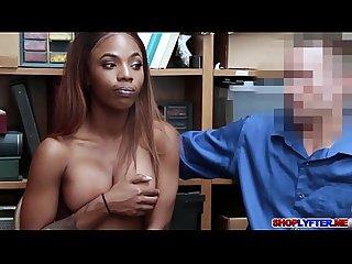 Horny cop bangs shoplifter sarah banks black pussy