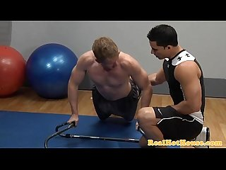 Muscular beefy pornstar gives bj