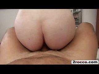 Rocco siffredi fucks all holes of a petite brunette european slut