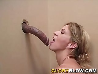 Phyllisha anne sucks and deepthroats Black dick gloryhole