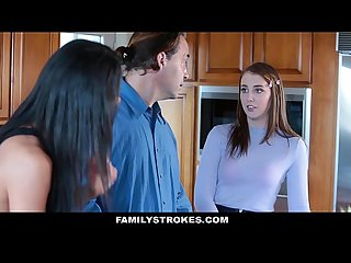 Familystrokes panty sniffing step dad blackmailed by hot daughter