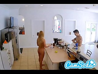 Super hot kitchen banging by hot blonde on camsoda